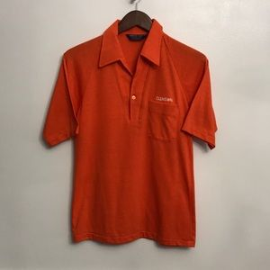 Clemson embroidered vintage polo